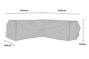 Kulmasohvan suojapeite 254x254cm
