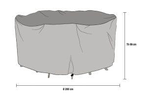 Ruokailuryhmän kalustesuoja 200cm