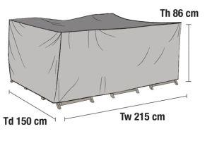 Ruokailuryhmän kalustesuoja 215x150cm