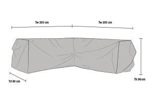 Kulmasohvan suojapeite 203x203cm