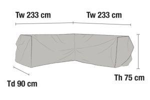 Kulmasohvan suojapeite 233x233cm