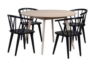 Yumi pöytä + 4 Carmen tuolia