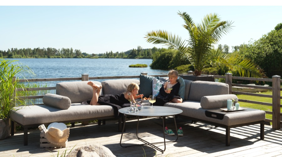 Alumiinirunkoiset kesäkaluste sohvat
